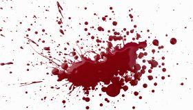 splattered paint simulating blood