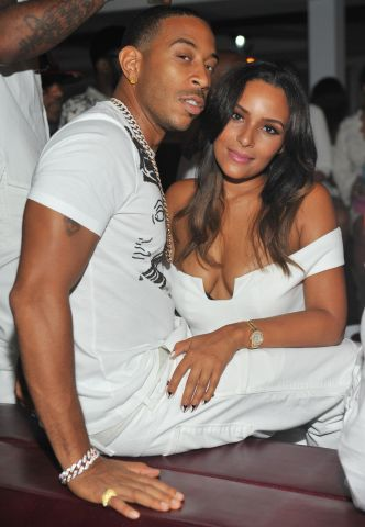 Eudoxie and Ludacris at Compound's Power all-white party
