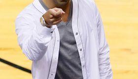 Drake courtside, San Antonio Spurs v Miami Heat - Game 7