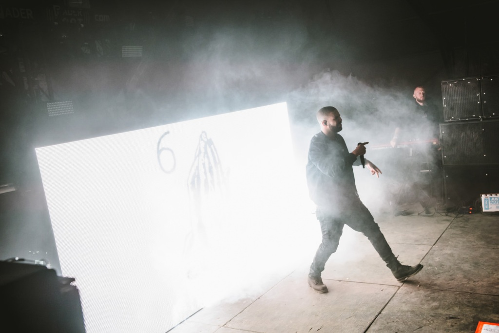Drake performing at Fader Fort