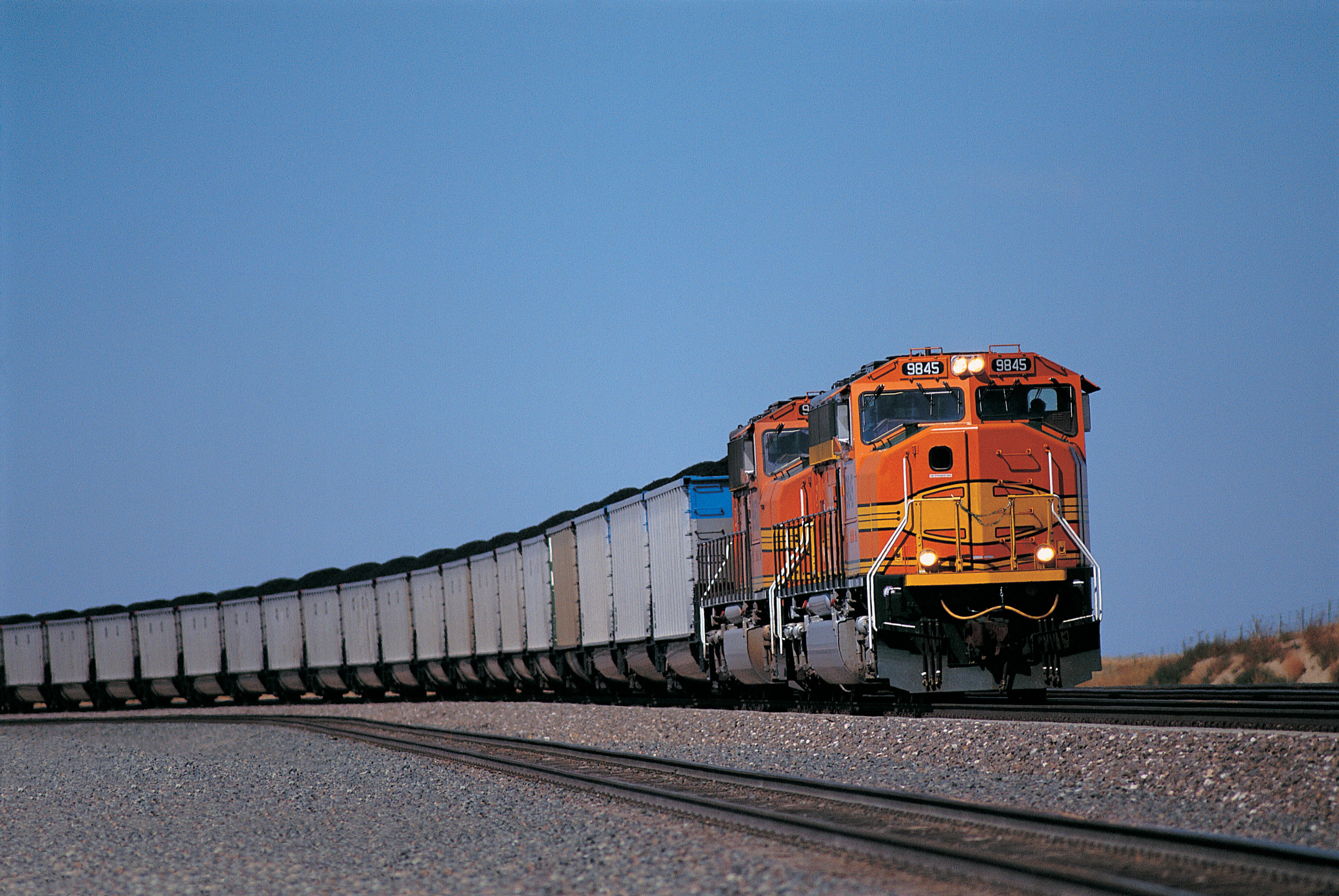 Train hauling coal
