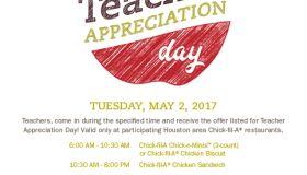 Chick Fil A Houston Teacher Appreciation