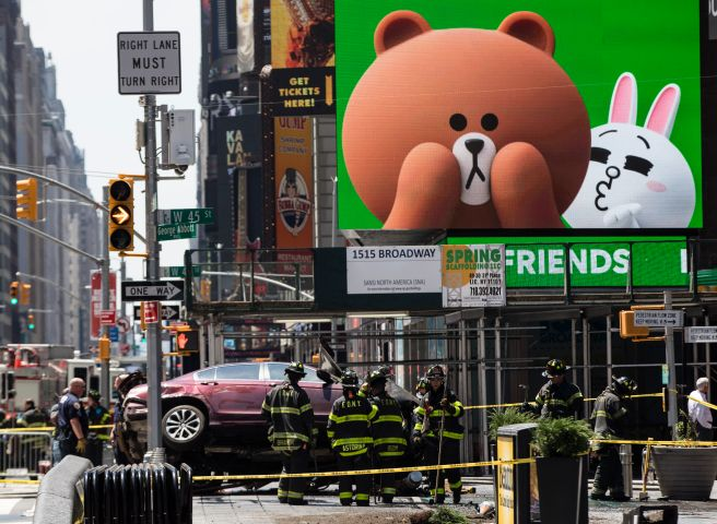 Car Plows Into Crowd Of Pedestrians In Times Square