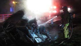 Burning Car detroit WCHB