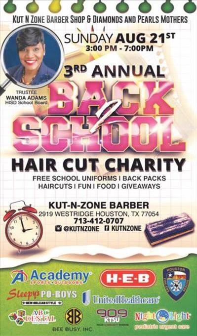 Back 2 School Hair Cut Charity