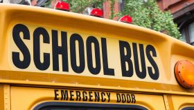 Close-Up Of School Bus With Text
