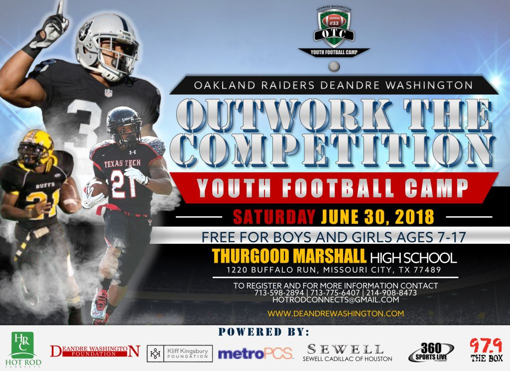 DeAndre Washington Outwork The Competition Football Camp