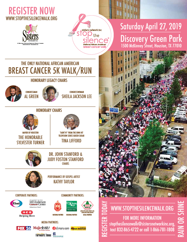 Sisters Network Stop the Silence Breast Cancer Walk