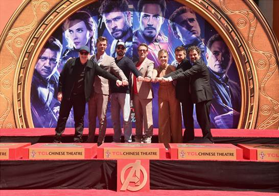 Avengers Handprint Ceremony at TCL Chinese Theatre