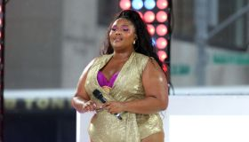 """Singer LIZZO Performs Live on NBC's """"TODAY""""\nRockefeller Plaza\nNew York, NY\nAugust 23, 2019"""