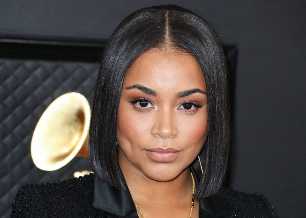 Lauren London arrives at the 62nd Annual GRAMMY Awards held at Staples Center on January 26, 2020 in Los Angeles, California, United States.