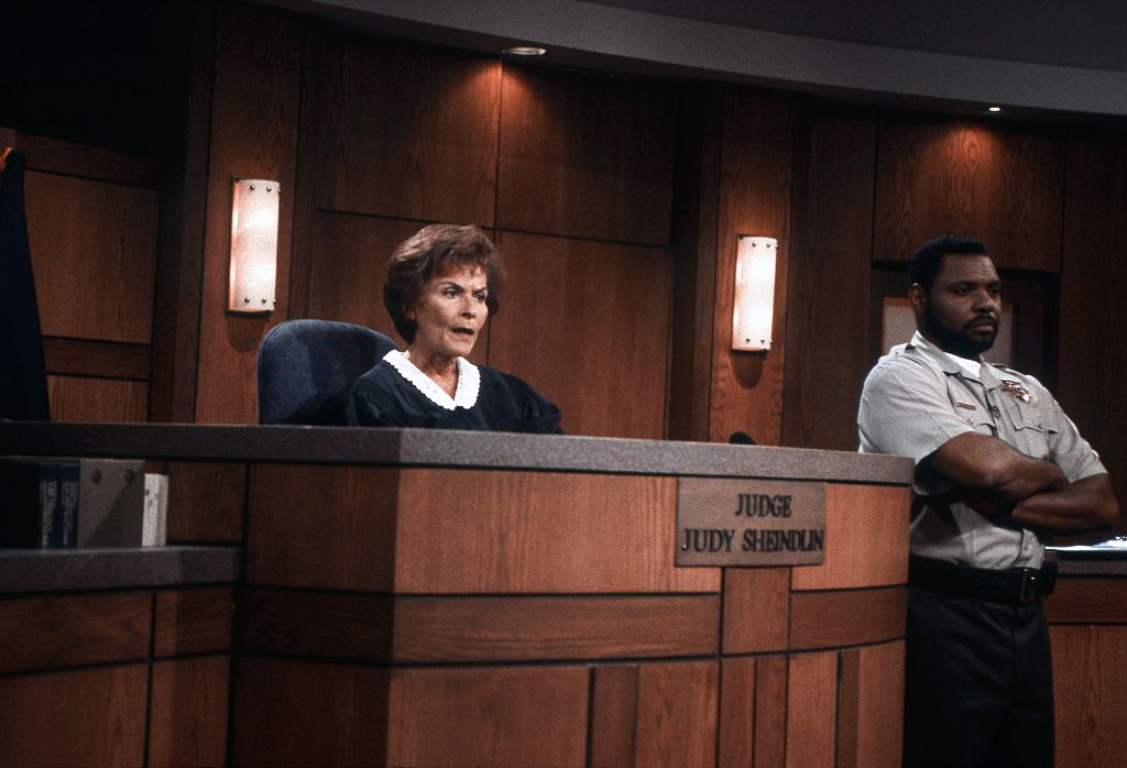 Judith Sheindlin on Set
