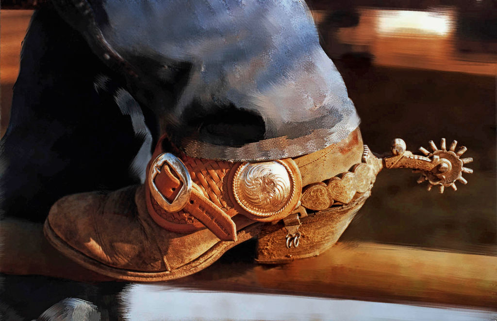 Old Cowboy Boot At Rodeo In Houston, Texas, 2007.