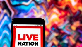Live Nation Entertainment company logo seen displayed on a