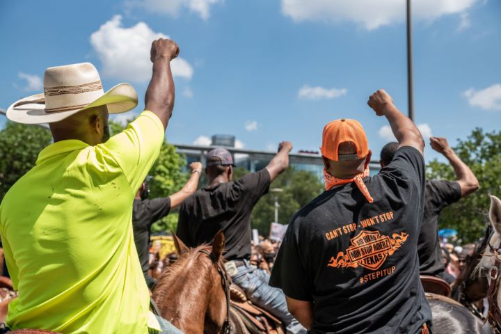 George Floyd's Family Joins March To Honor Him In Houston