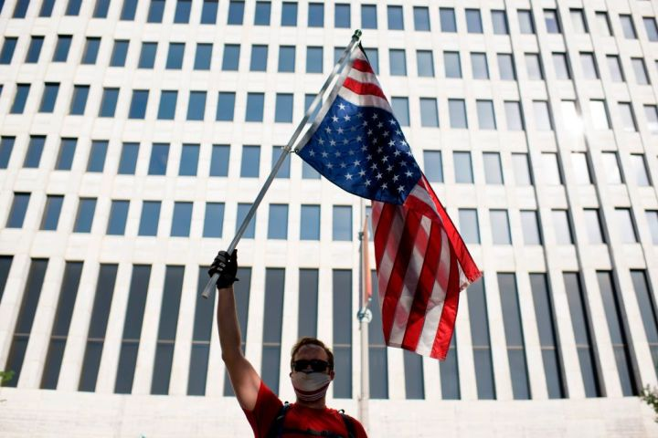 Upside Down American Flag - Houston