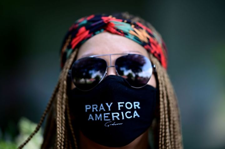 Pray For America Mask