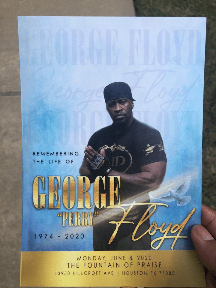 George Floyd Memorial Flyer