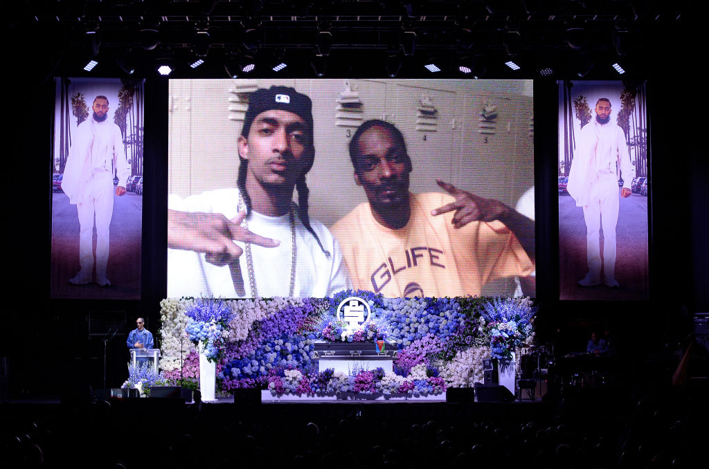 Nipsey Hussle's Celebration Of Life - Inside
