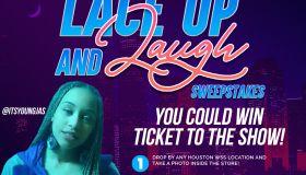 Lace Up & Laugh Flyer