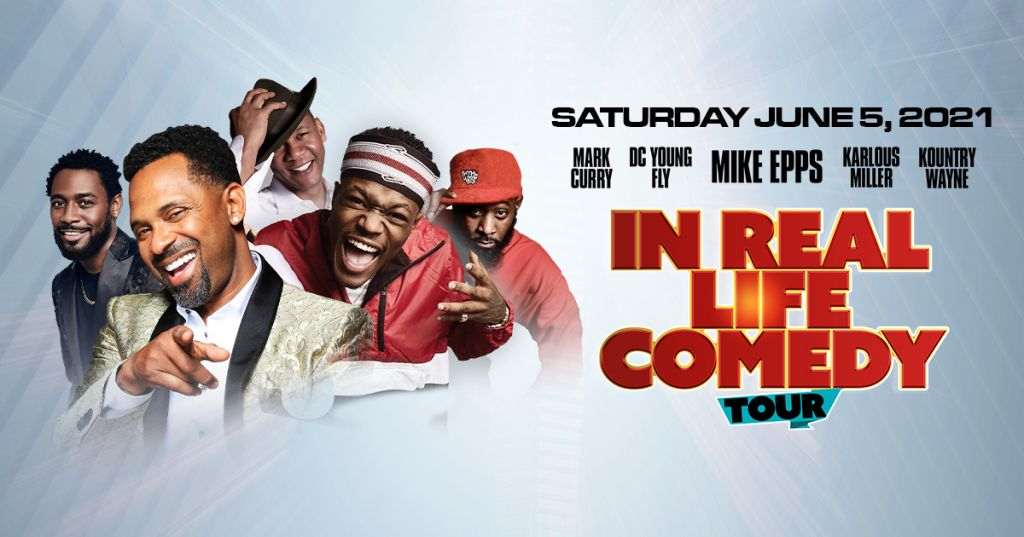 In Real Life Comedy Tour Flyer