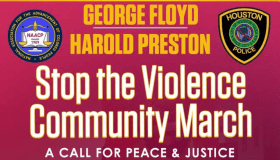 George Floyd Harold Preston Stop The Violence Rally Flyer New