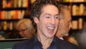 Pastor Joel Osteen signs copies of his new book 'Next Level Thinking' at Barnes and Noble