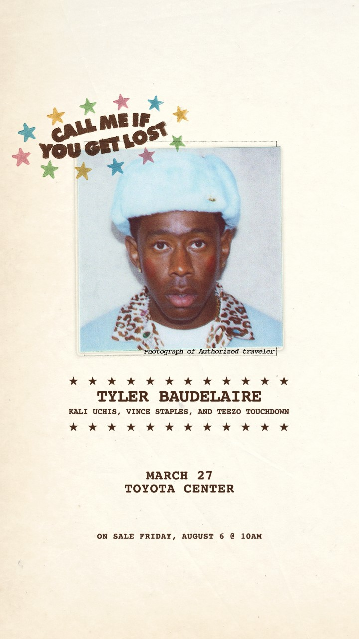 Tyler The Creator Call Me If You Get Lost Houston