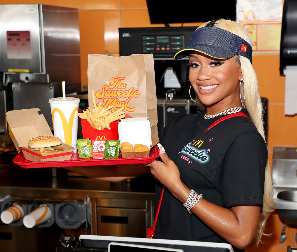 Saweetie Celebrates the launch of her signature order at McDonald's